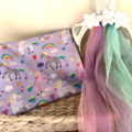 Dolls Nappy bag & accessories, Unicorn print,  girls gift
