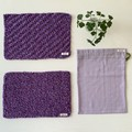 Hand knitted Placemats gift bag