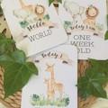 JUNGLE ANIMALS Baby Milestone Cards