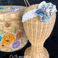 0-3 months children's headbands  flower from Vintage silk Kimono fabric