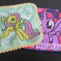 My Little Pony Face Washers with crocheted edges