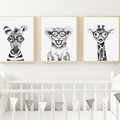 "HIPSTER SAFARI TRIO SET  Art Print Set 8x10"" size"
