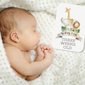 JUNGLE ANIMALS Baby Milestone Cards