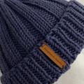 Mens or ladies blue merino knitted beanie