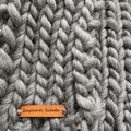 Grey super soft winter scarf hand knitted wool