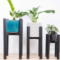 Indoor wooden plant stands, small, reclaimed recycled timber