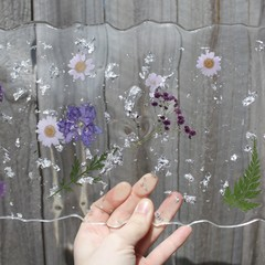 Resin pressed flower tray