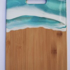 Bamboo ocean resin cheeseboard