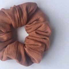 Crinkle Cotton Scrunchie - Terracotta - Scrunchy