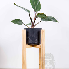 Indoor wooden plant stands, medium, reclaimed recycled timber