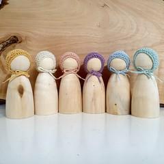 Little Earthlings Wood Peg Doll