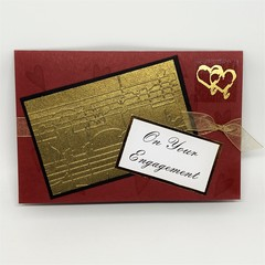 Engagement Card - Red and Gold