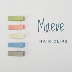 MAUEVE   neutral lined hair clips   snap clips, toddler clips, baby hair clips