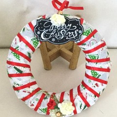 Merry Christmas Plaque Hanging Wreath