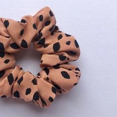 Soft Rayon Scrunchie - Rose Spots - Scrunchy