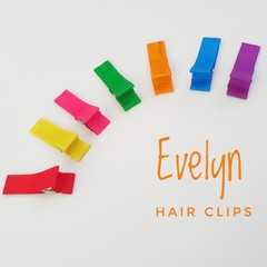 EVELYN | bright rainbow lined hair clips | snap clips, toddler clips
