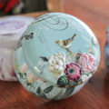 Clearance sale ~ #3 floral/bird tin soy candle -small