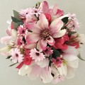 Pink Magnolia Mixed Rose Faux Flower Centrepiece
