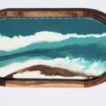 Acacia wood resin ocean tray