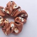 Soft Rayon Scrunchie - Rusty Florals - Scrunchy