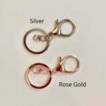 Macrame diamond keychain