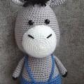 """""""Derek"""", Handmade Crochet Donkey Soft Toy, Donkey Amigurumi"""