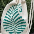 Block printed pouch | Fern leaf