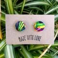 Rainbow Fabric Studs 19mm