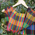 Test Pattern Handwoven Scarf