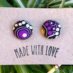 Purple Indigenous Studs 19mm