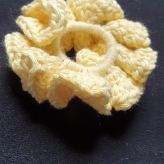 Yellow ruffle scrunchie