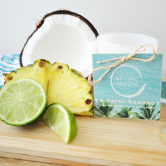 Tropical Coconut Hand Poured Soy Blend Wax Candle