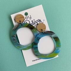 Watercolour Statement Loop Earrings