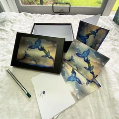 'Sadness' Set of 6 artwork cards in a gift box