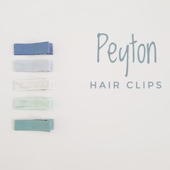 PEYTON | neutral lined hair clips | snap clips, toddler clips, baby hair clips