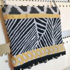 Fabric Zebra Necklace