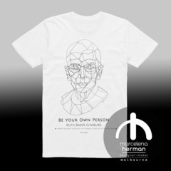 Ruth Bader Ginsburg - BE YOUR OWN PERSON - tribute Tshirt