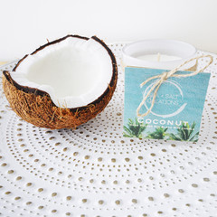 Coconut Hand Poured Soy Blend Wax Candle