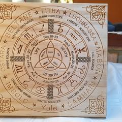 Pagan Wall Plaque Southern Hemisphere  Year Wheel