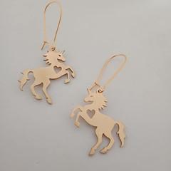 Gold S/S horse / unicorn earrings