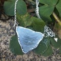 Ultra light & ultra thin sea glass necklace.