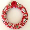 Merry Christmas Plaque Hanging Wreath
