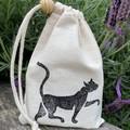 Block printed pouch | Black cat