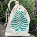 Block printed pouch | Fern leaf