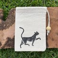 Block printed pouch | Black cat