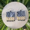 Zebra Fabric Earrings