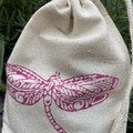 Block printed pouch | Dragonfly