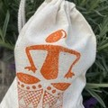 Block printed pouch | Drummer