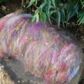 Angora Silk Batt for Spinning ~ Milky Way