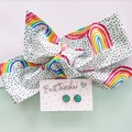 Rainbow Gift Set - Earrings and hair tie